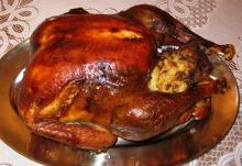 Holiday Turkey with Cornbread-Andouille Stuffing
