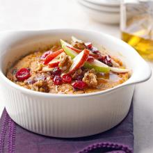 Pumpkin Rice Pudding With Cranberries