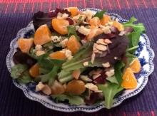 Satsuma Dried Cranberries And Blue Cheese Salad