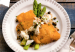 Parmesan Crusted Flounder with Crabmeat