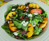 Summer Salad with Peach and Bacon Vinaigrette