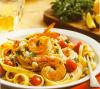 Shrimp And Scallop Fettuccine With Feta